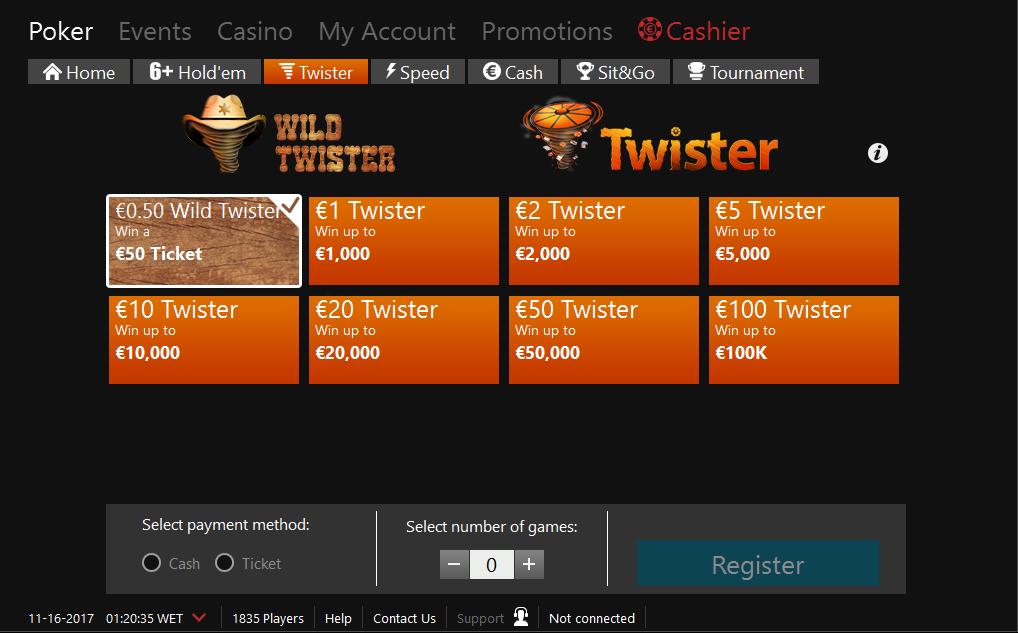 Twister Lobby iPoker