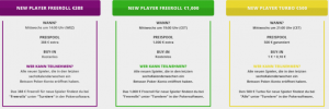 Freerolls for new players