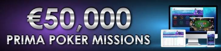 €50,000 Prima Poker Missions