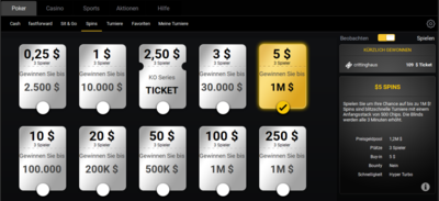 Bwin Spins Lobby