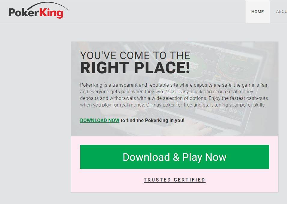 PokerKing sign up 1