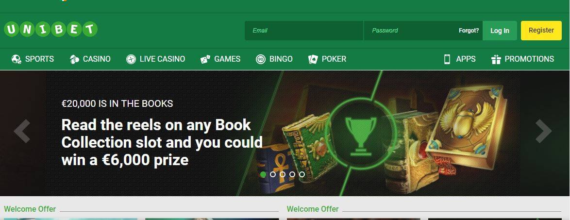 Unibet sign up