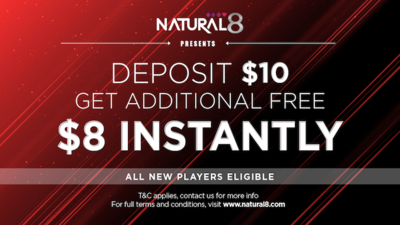 Natural8 provides free money for new players