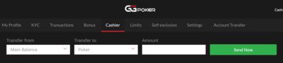 GGPoker Cashier