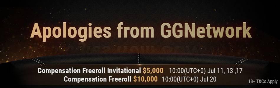 25k Compensation Freerolls GG Network