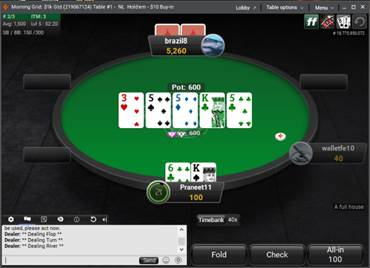 green table partypoker