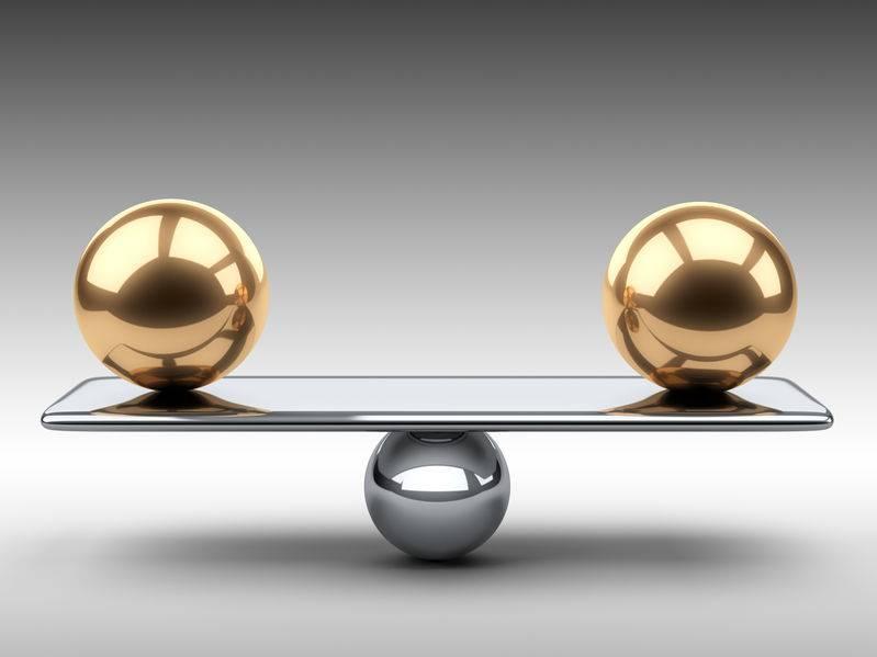 Das Gleichgewicht ist wichtig